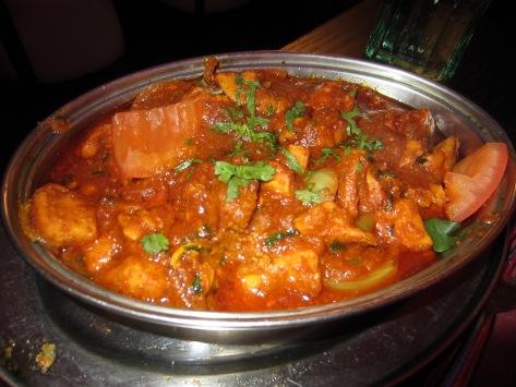 Classic chicken bhuna.