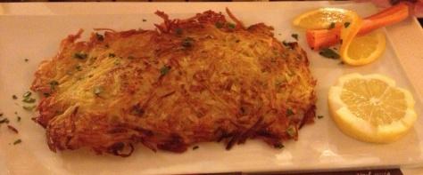 Seabass in potato rosti