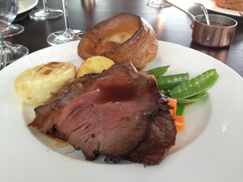Roast 'ginger pig' beef, Yorkshire pudding, classic garnish, ale gravy