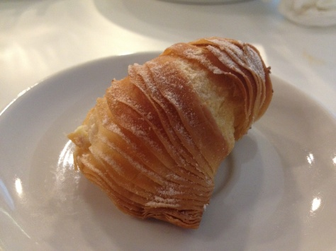 Sfogliatelle - lobster tails filled with a lemon cream.