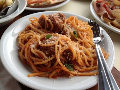 Nonna's polpette and spaghetti