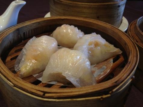 Ha gau - steamed prawn dumplings