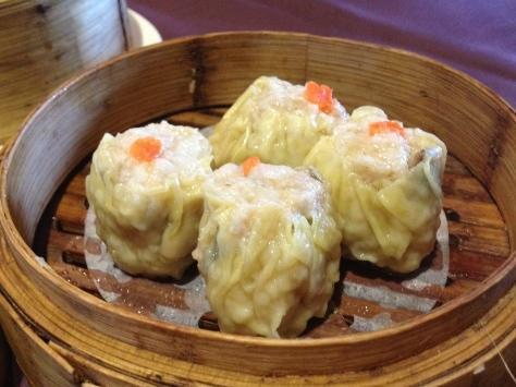 Sui mai - steamed pork and prawn dumplings