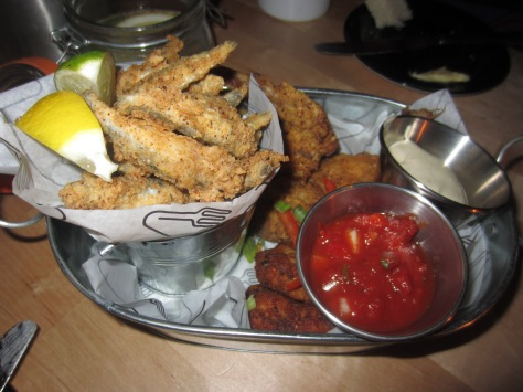 Odds 'n' Sods - whitebait fries, Jamaican crab cakes and
