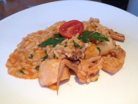 Tuscan risotto alla prata, sauteed wth fresh mediterranean seafood