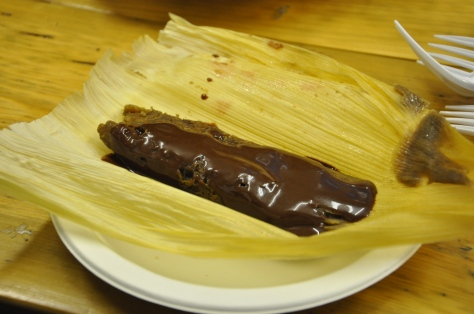 Cherry and chocolate tamales from El Topo