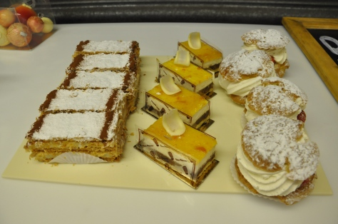 Selection of beautiful patisserie