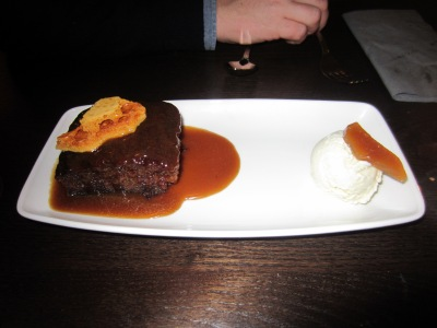 Sticky Cinder Toffee Pudding