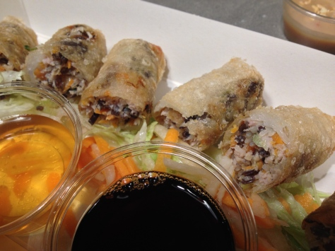 Chả giò: spring rolls (veggie) served with lettuce & herbs to wrap & dip