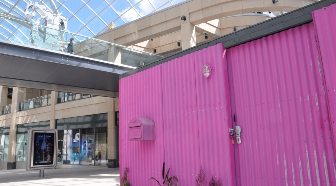 The Pink Shed – Behind the scenes photoblog @ Trinity Leeds