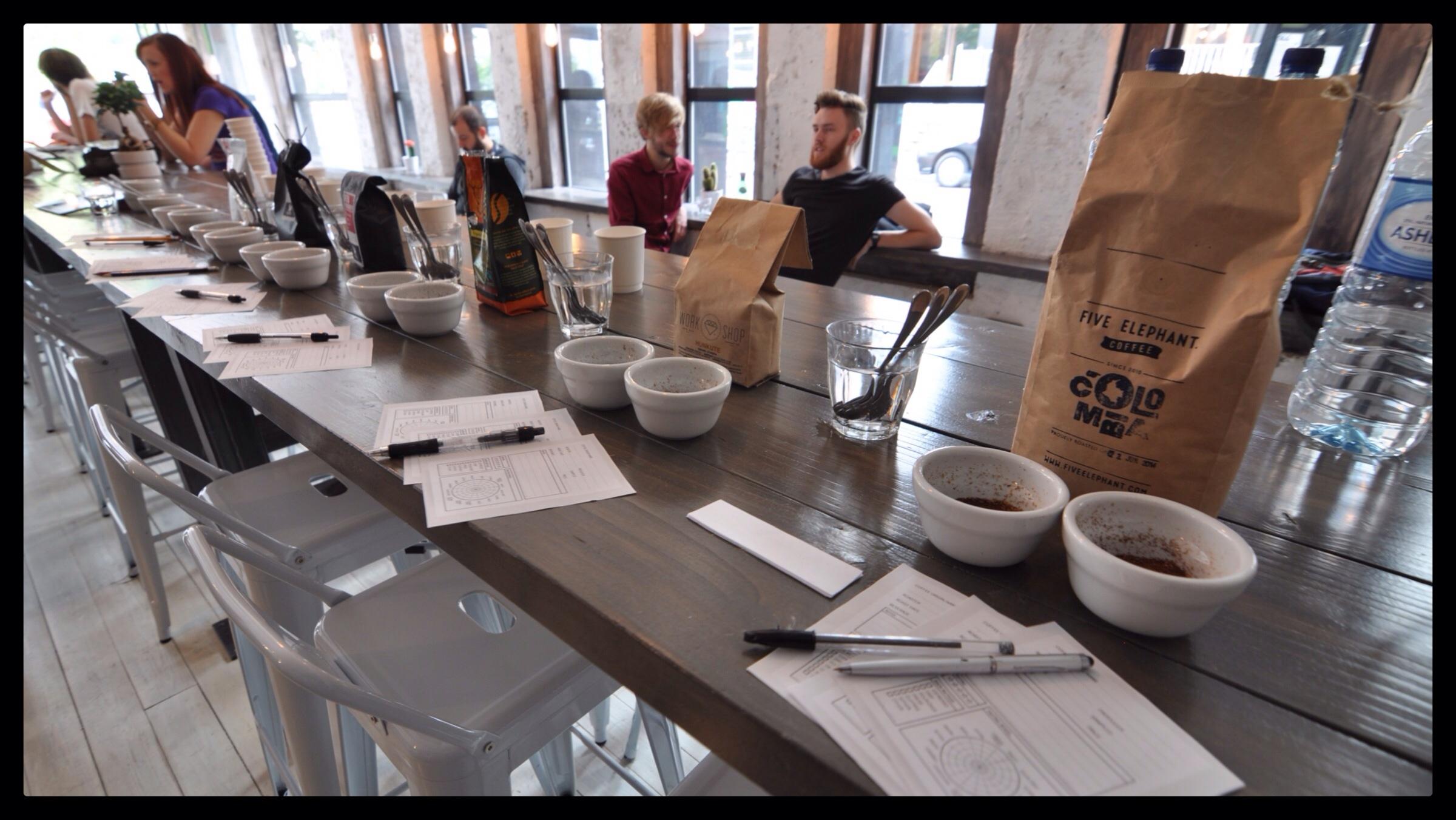 Coffee Cupping La Bottega Milanese Leeds