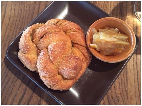 sweet cardamom bun, meyer lemon marmalade