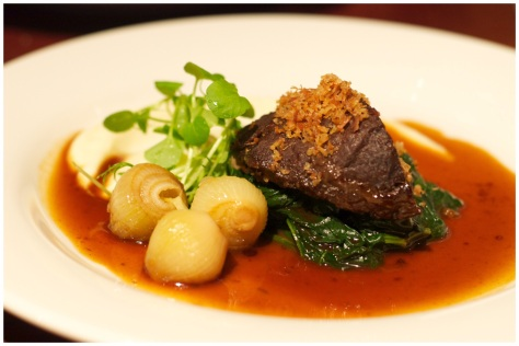 Slow cooked ox cheek