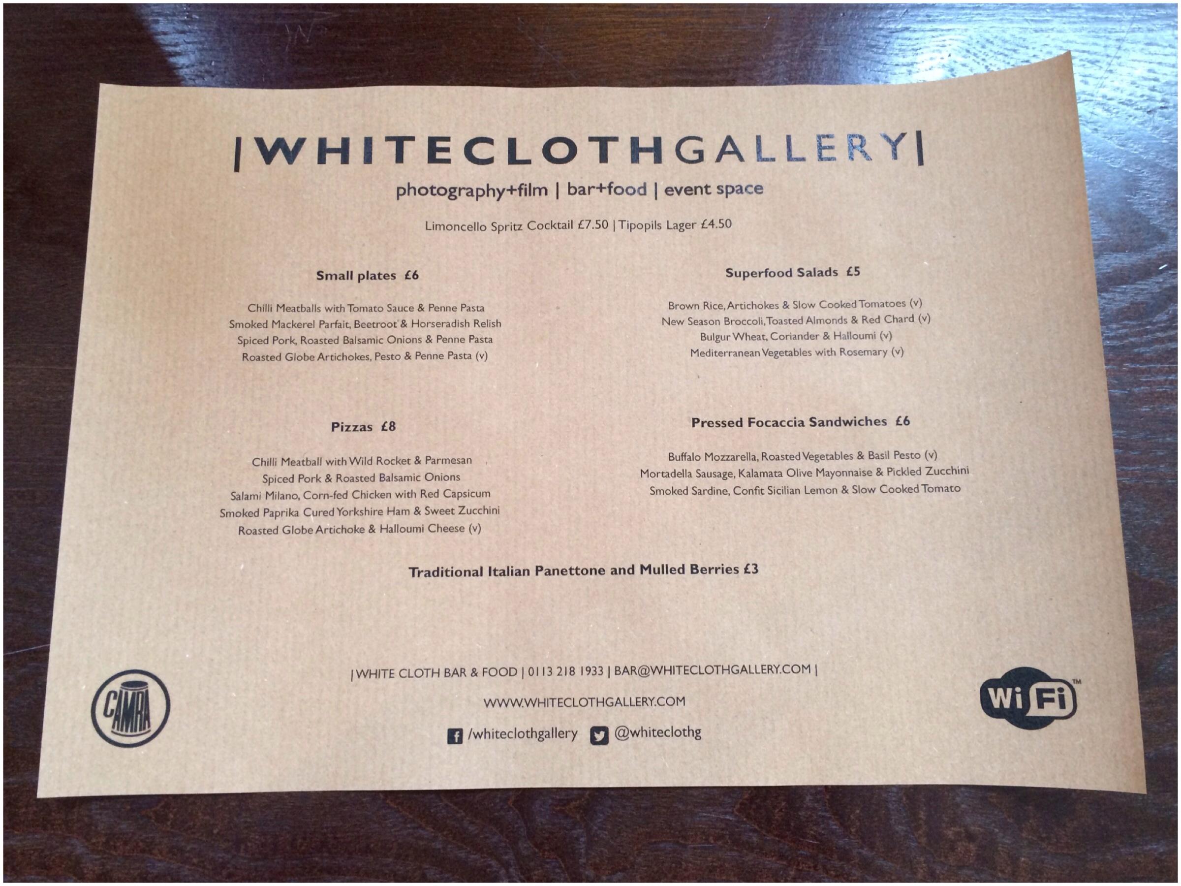 White Cloth Gallery menu tasting, Leeds | A Tale of Two Sittings