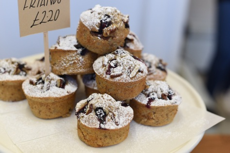 Blueberry and pecan Friands