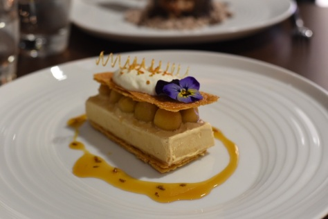 Toffee Apple Mille Feuilles Honey, bee pollen, lavender