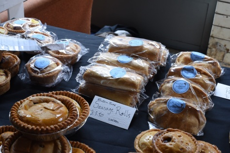 Gluten free sausage rolls, pork pies and traditional cornish pasties from Voakes