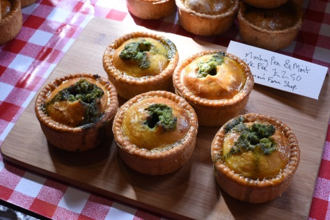 Mushy pea & mint pork pie - Robinsons Farm Shop